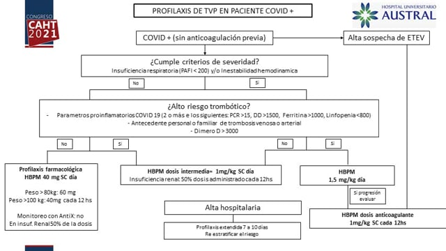 Profilaxis antitrombótica en pacientes con COVID-19 internados en unidad de cuidados intensivos - Dra María E Cancela