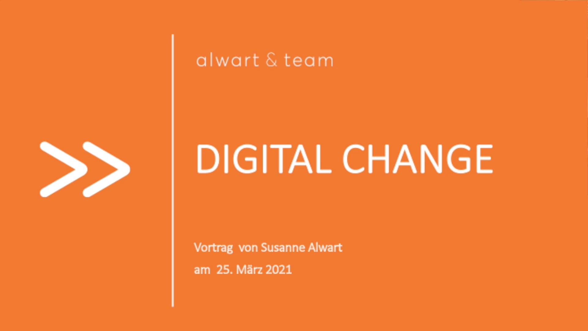 Digital Change   Vortrag von Susanne Alwart