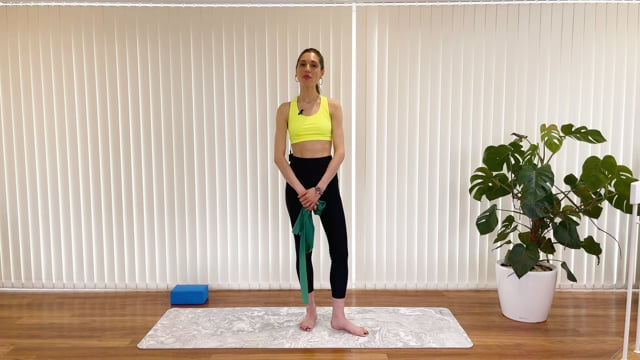 15 min-Arm toning with the flex-band