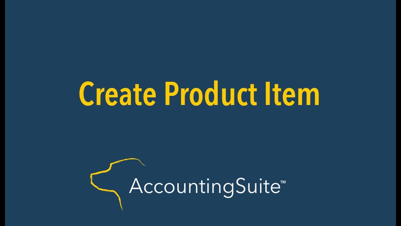 Create Product Item