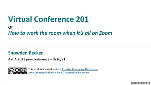 Virtual Conference 201