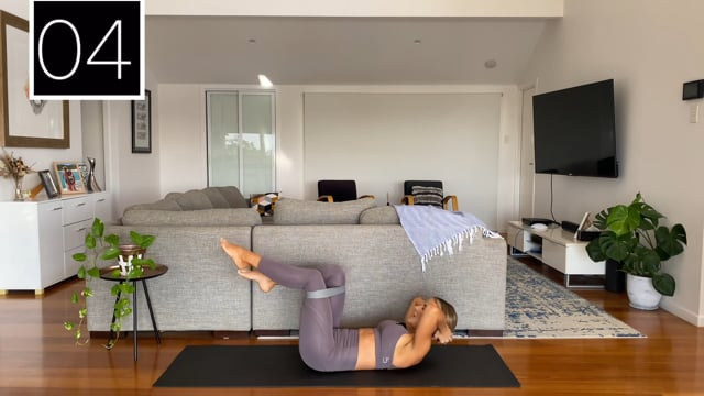 10min booty band interval abs