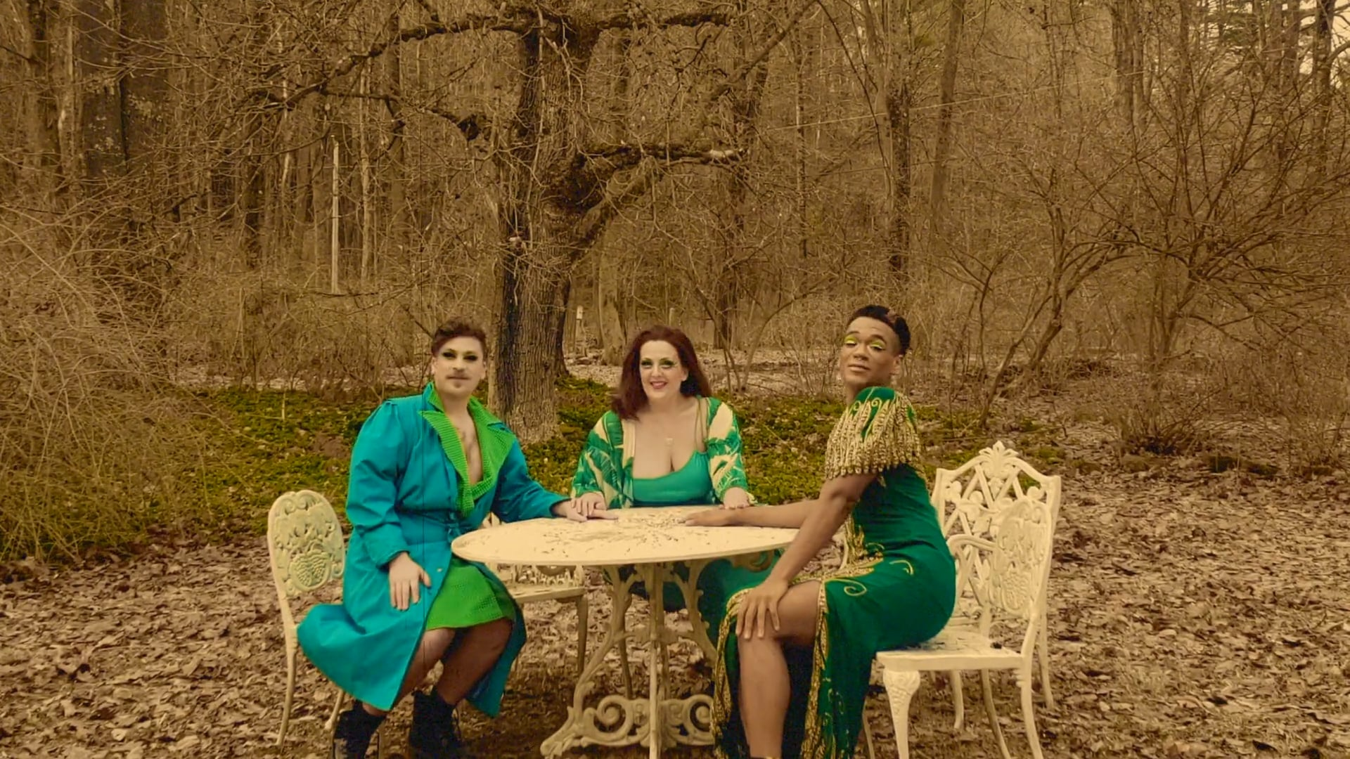 Year in Rainbow NEW WORK #7: 3 OF GREEN 3 0F LOVE
