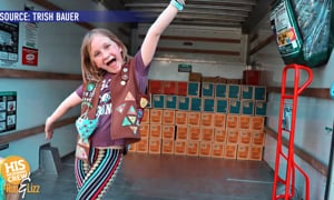 She's 8 and she's sold more Girl Scout cookies than anyone. Ever.