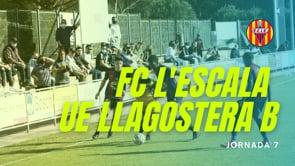 Resum FC l'Escala 1-2 UE Llagostera B
