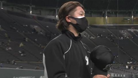 マリーンズ・二木投手ヒーローインタビュー 4/2 F-M