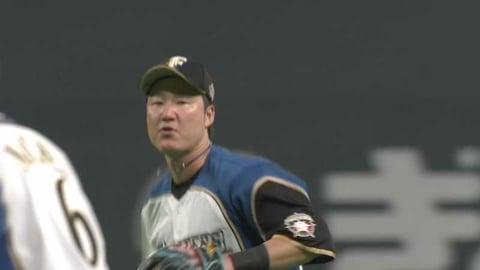 【3回表】ファイターズ・渡邉が華麗な守備でチームを救う!! 2021/4/3 F-M