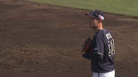 【3回裏】バファローズ・太田 一二塁間に抜けそうな打球を好捕しアウトを奪う!! 2021/4/3 E-B
