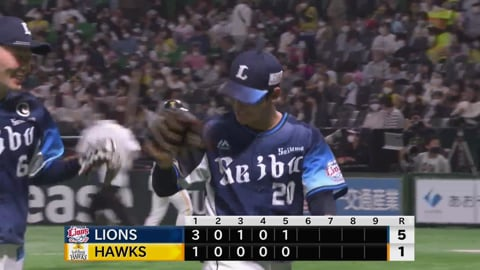 【5回裏】ライオンズ・浜屋 5回1失点6奪三振の好投を見せる!! 2021/4/3 H-L