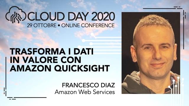 Trasforma i dati in valore con Amazon QuickSight
