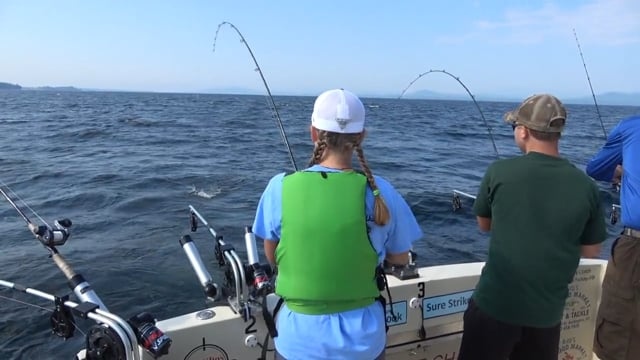 Fishing on Lake Champlain with Sure Strike Charters