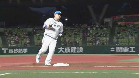 【2回裏】好調!! ライオンズ・中村 レフトスタンドへの同点ソロホームラン!! 2021/4/6 L-E