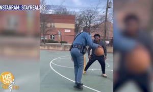 This Ballin' Officer Loves His Lil' Hype Man!