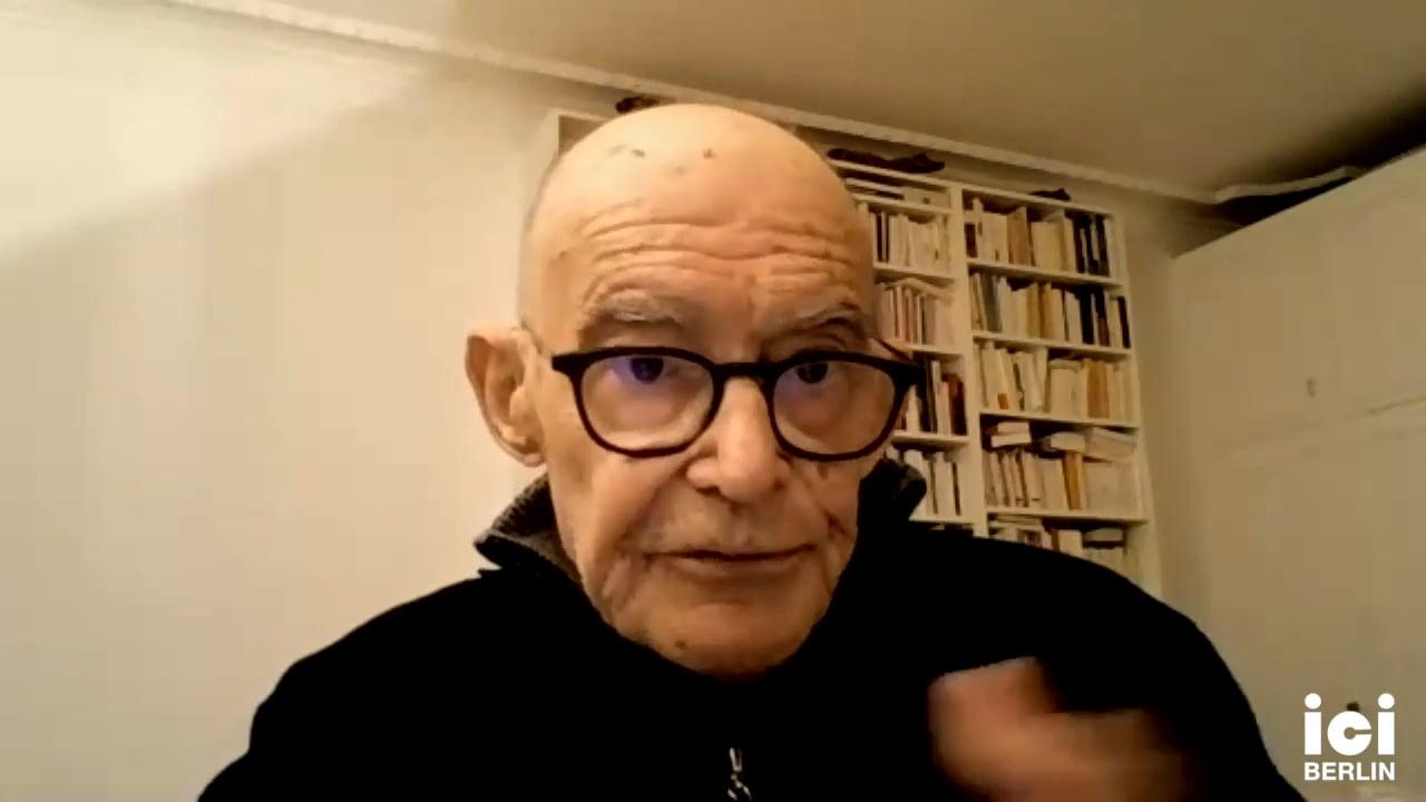 Talk by Jean-Luc Nancy