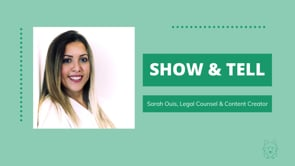 Show & Tell with Sarah Ouis