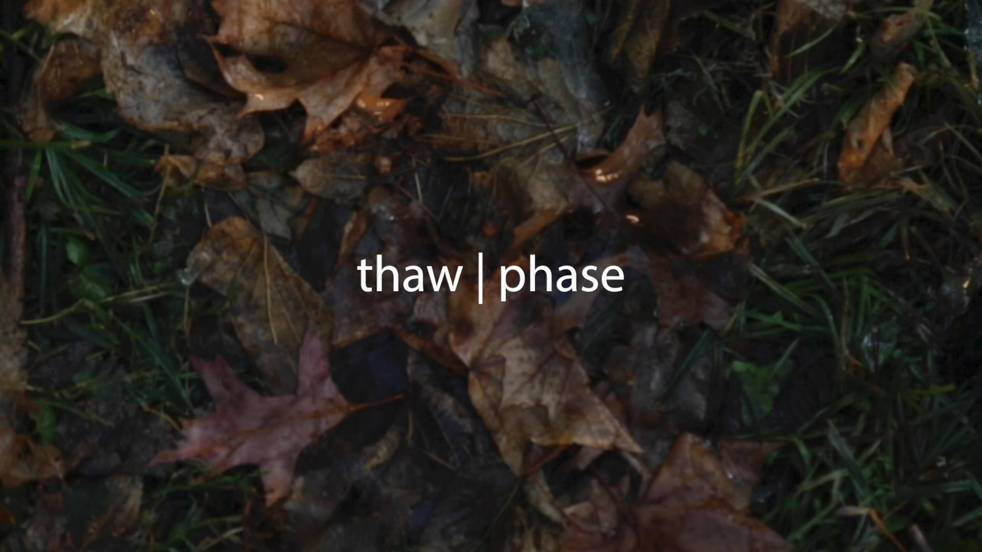 thaw | phase