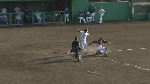 【ファーム】ライオンズ・綱島の好走塁で同点に追いつく!! 2021/4/7 L-F(ファーム)