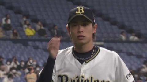【6回表】バファローズ・山岡がピンチを三振で切り抜け、6回無失点の好投!! 2021/4/9 B-F