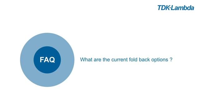 TDK-Lambda Z+ FAQs (current fold back)