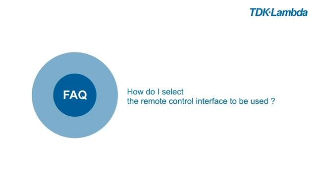 TDK-Lambda Z+ FAQs (select remote control interface)