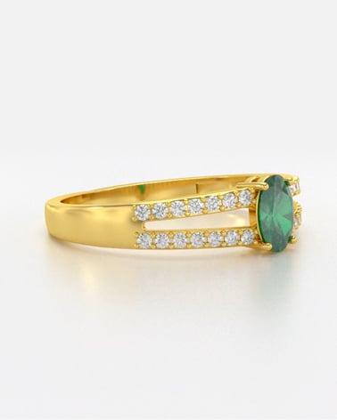 Video: Anelli Smeraldo diamanti Argento 925