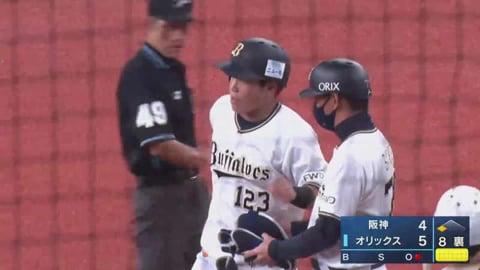 【ファーム】バファローズ・稲富 終盤で勝ち越しタイムリーヒットを放つ!! 2021/4/14 B-T(ファーム)