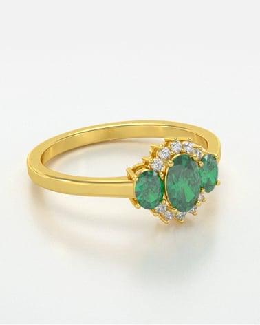 Video: Anelli Oro Acquamarina diamanti 1.358grs