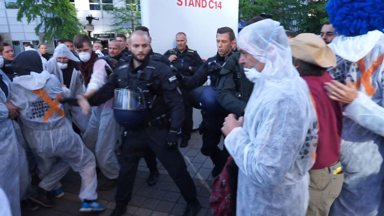 CGTN 2019 - Frankfurt Motor Show - Climate Change Protests