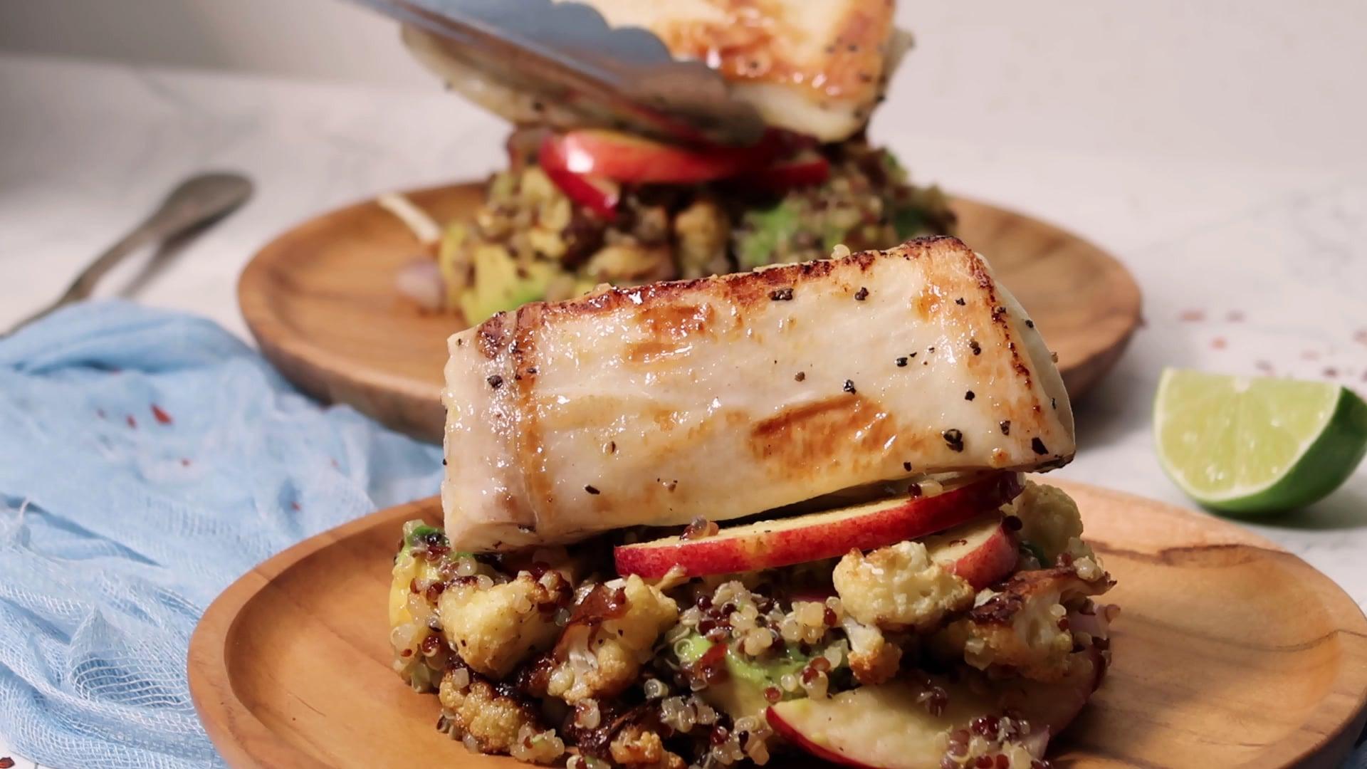 FoodwithFayee - Halibut Quinoa Salad
