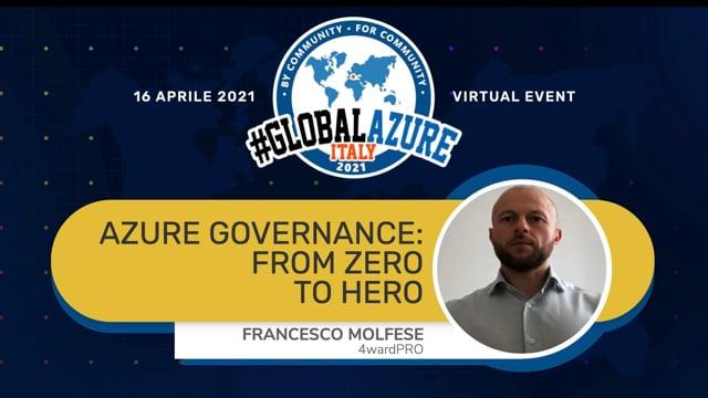 Azure governance: from Zero to Hero