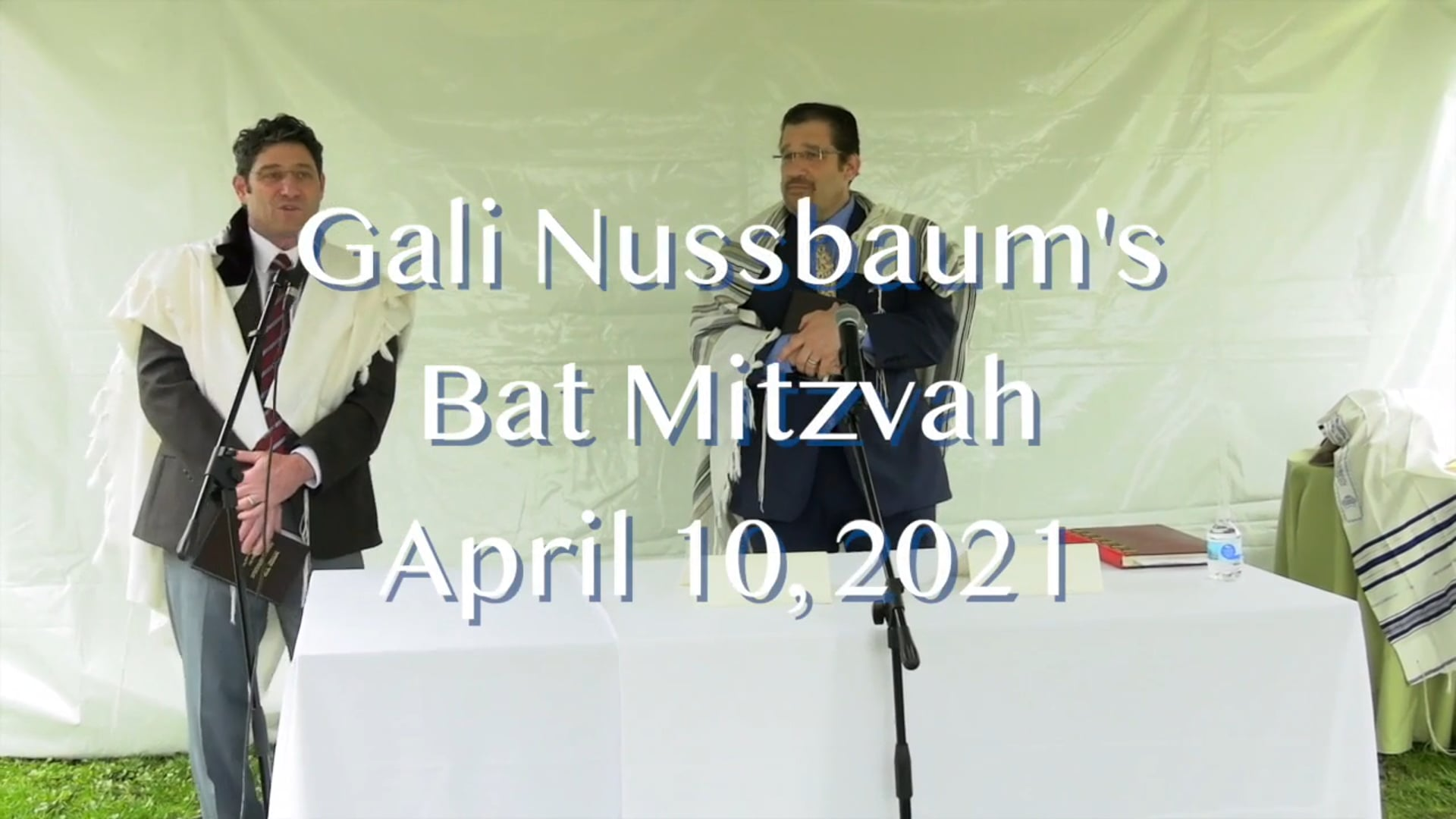 Gali's Bat Mitzvah 4/10/21