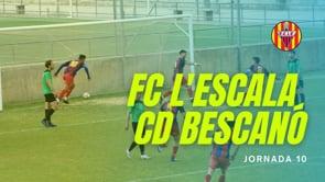 Resum FC l'Escala 2 - 0 Bescanó