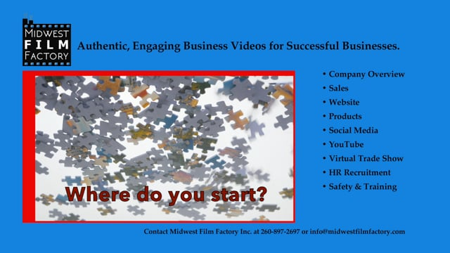 Putting the pieces together for you to build the video your boss wants.