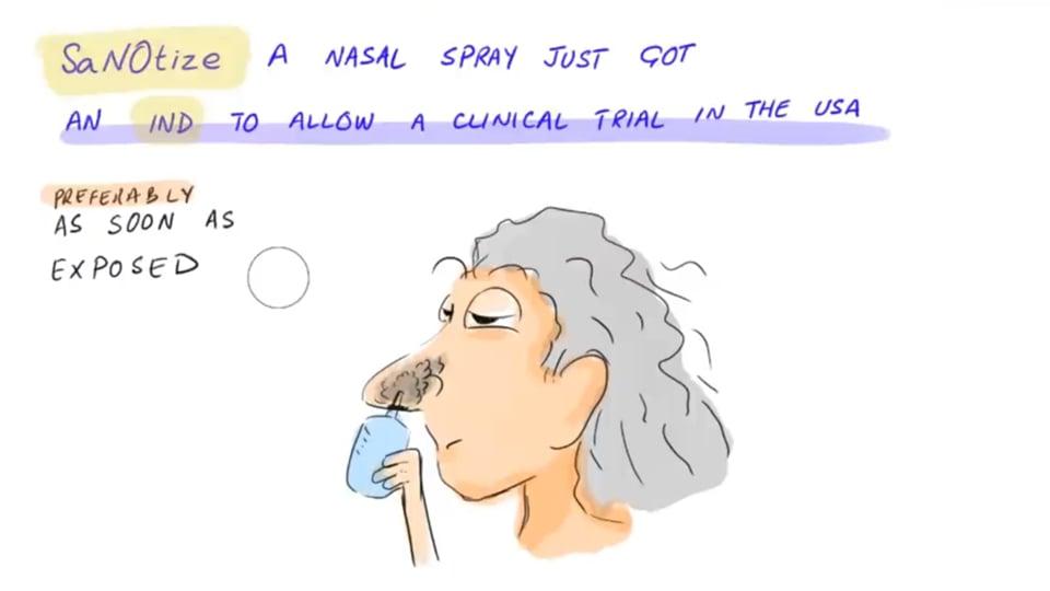 Nasal Spray for Virus/SARS-COV-2 Reduction