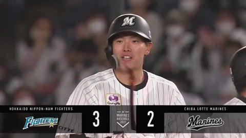 【3回裏】ベース直撃!! マリーンズ・安田のタイムリー内野安打で1点差に迫る!! 2021/4/20 M-F