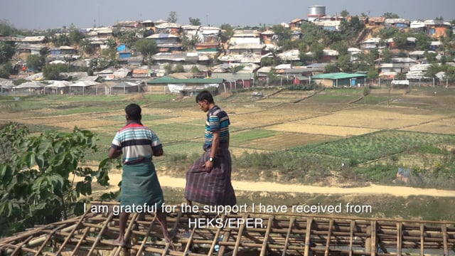 HEKS/EPER supports Rohingya to repair their shelters
