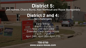 Early Voting for May City Elections