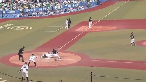 【3回裏】マリーンズ・中村 相手守備の隙をつき、ホームを陥れる好走塁!! 2021/4/24 M-H