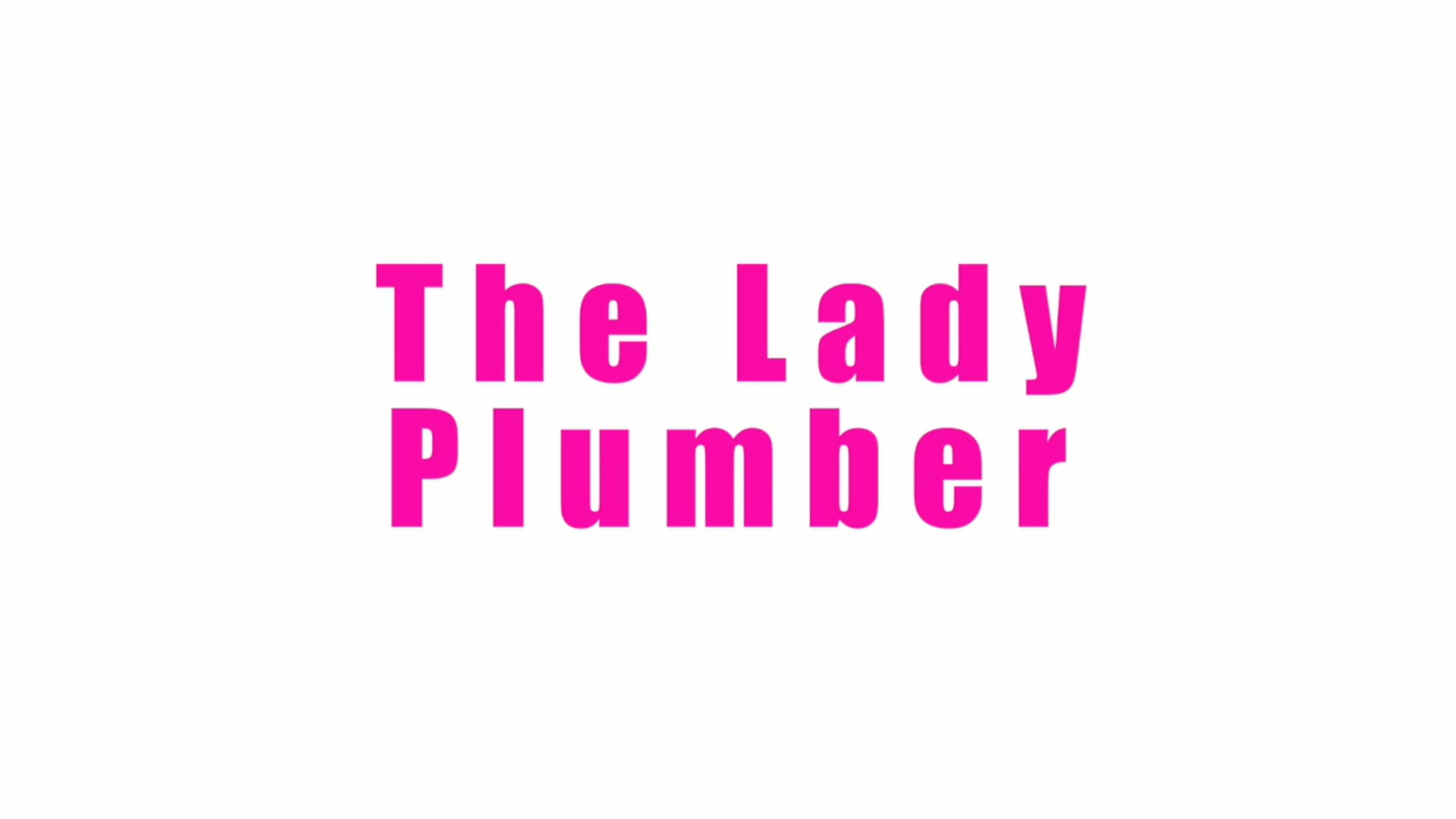 The Lady Plumber