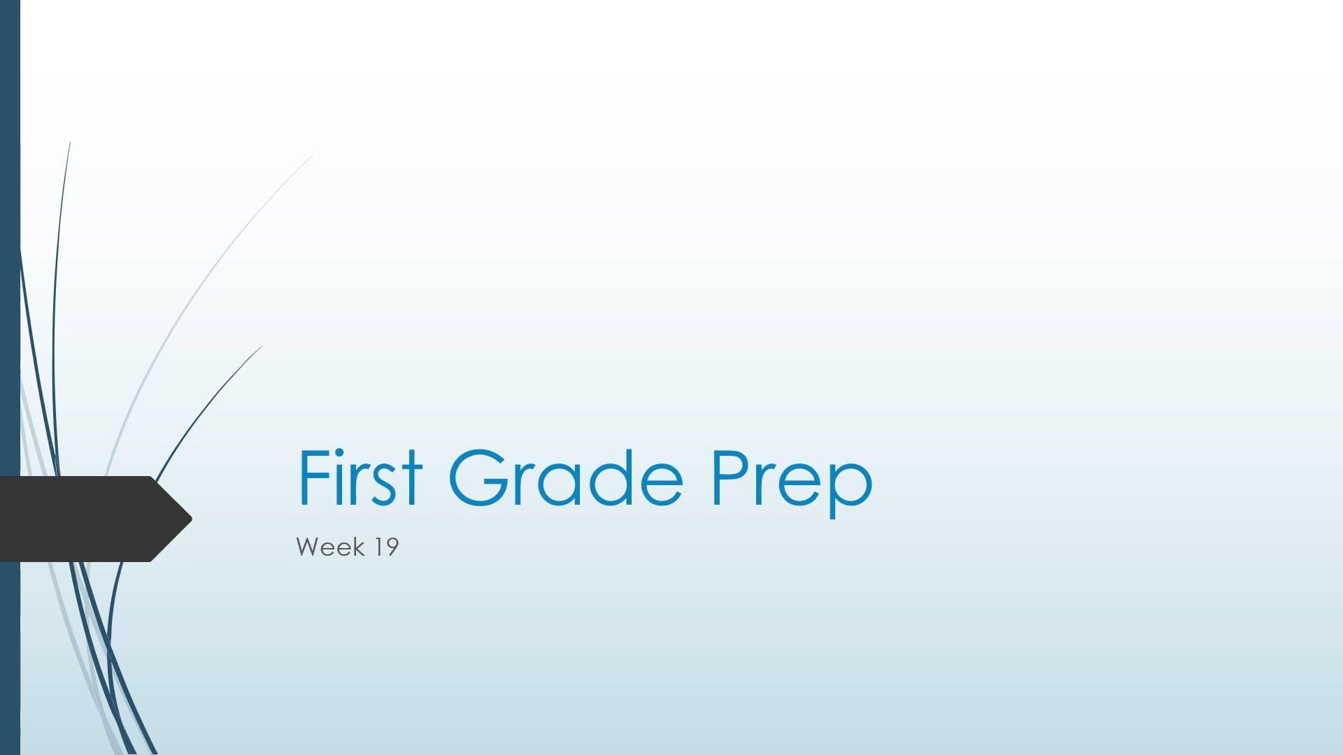 1 - PREP - Wk19
