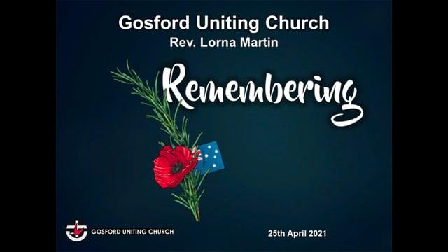 25th April 2021 - Rev Lorna Martin