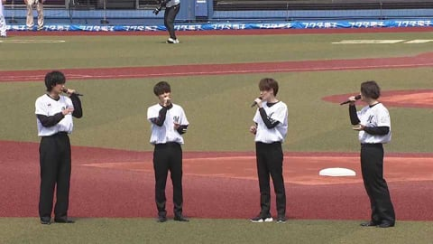男性ボーカルグループSOLIDEMOが国歌斉唱 2021/4/25 M-H