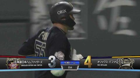 【8回表】本日2本目!! バファローズ・T-岡田 犠牲フライで勝ち越しに成功!! 2021/4/25 F-B