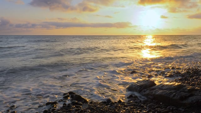 Fascinating Sunset over the Black Sea, Krasnodar Region, Russia - Short Preview Video