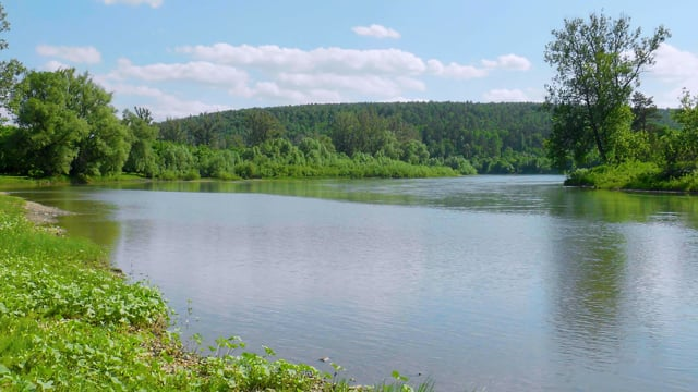 4K Fascinating Serenity of Yuryuzan River, Ural Area, Russia - Short Preview Video