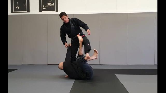 Passage de X guard en faisant un mouvement de jambe