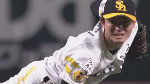 【7回表】ホークス・高橋純 2アウト満塁フルカウントからストレートで空振り三振を奪う!! 2021/4/27 H-F