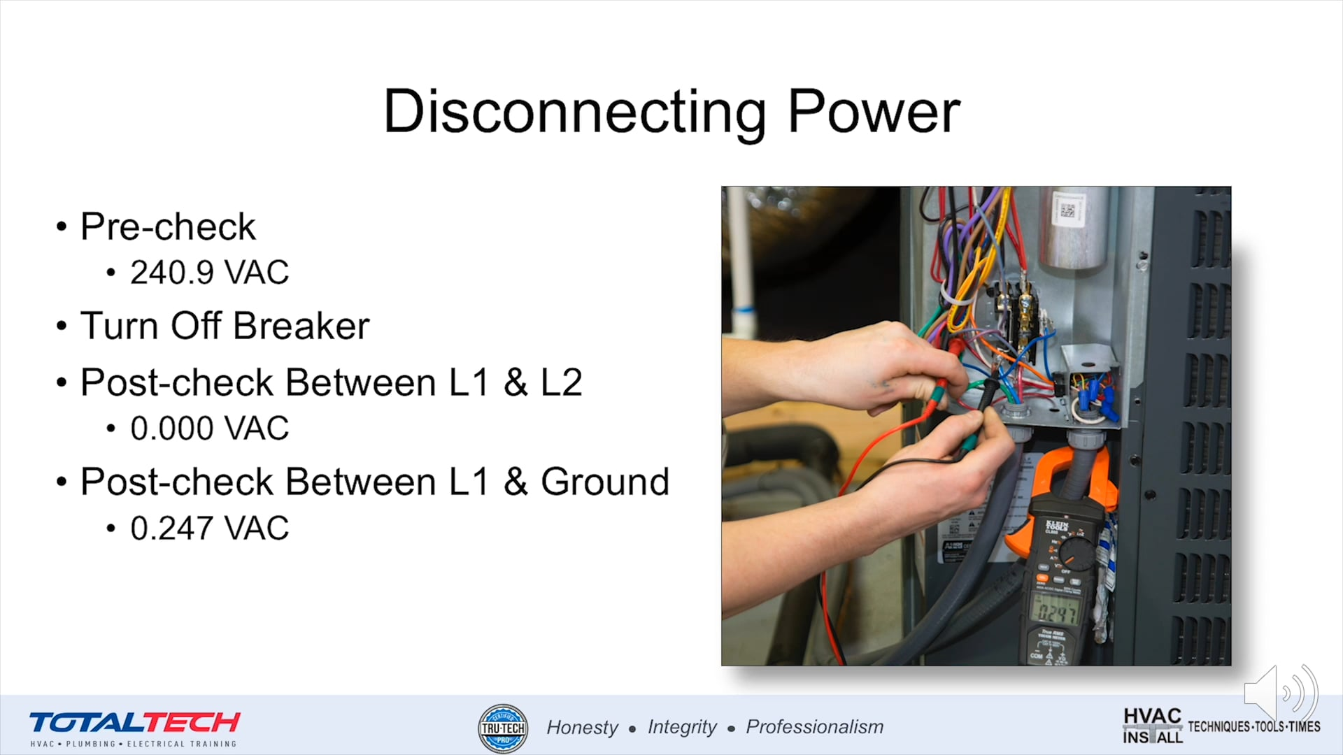 Installation-Disconnecting Power