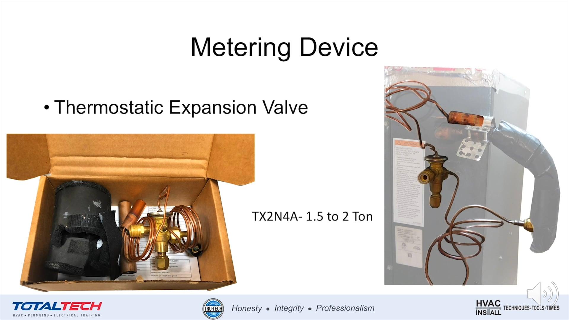Installation-Thermostatic Expansion Valve Sizing