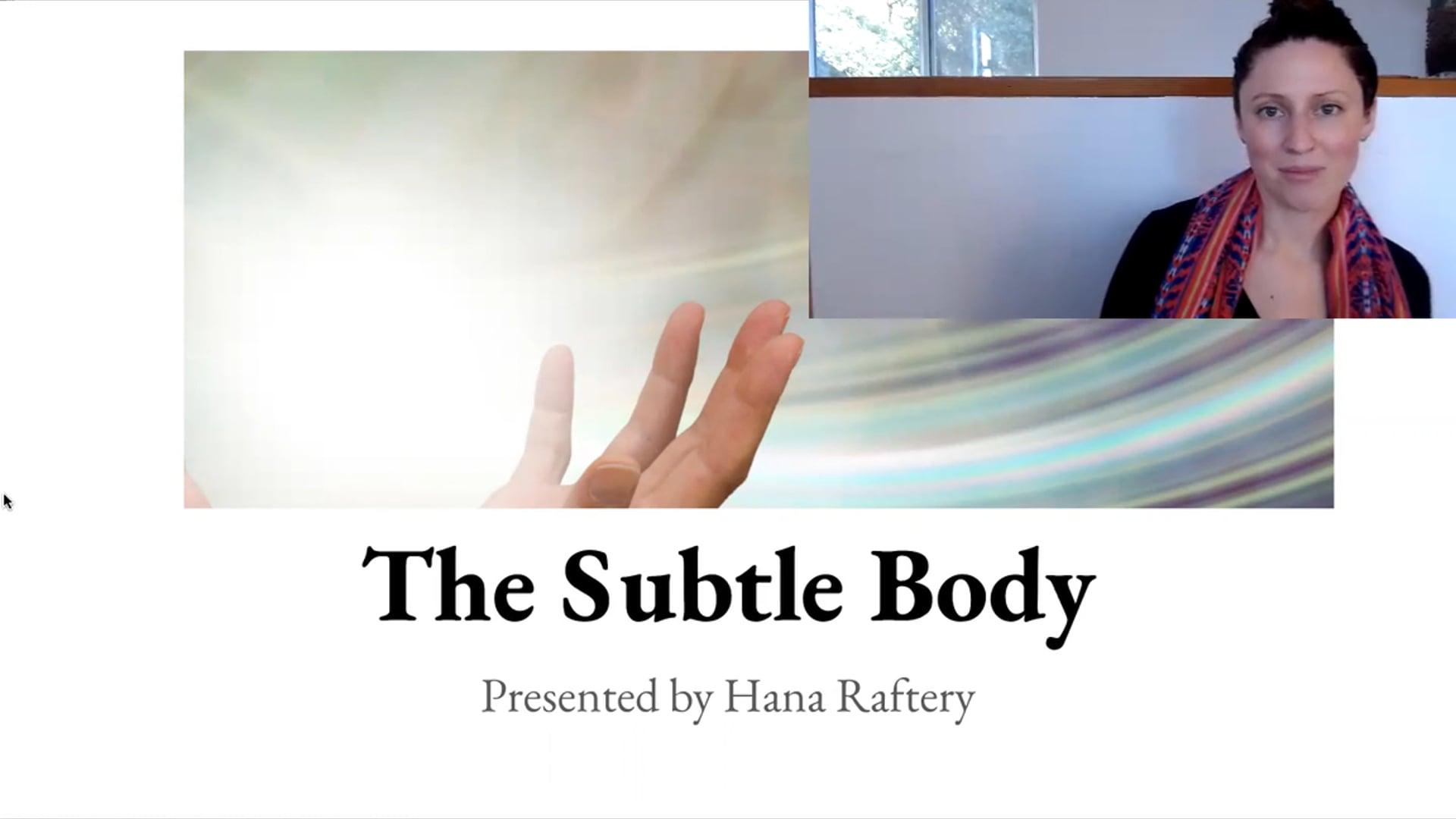 """30 min """"Subtle Body"""" Lecture Workshop"""